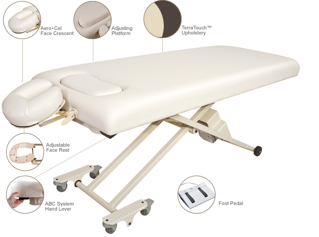 Euphorian Massage Table with Adjustable Breast Comfort System